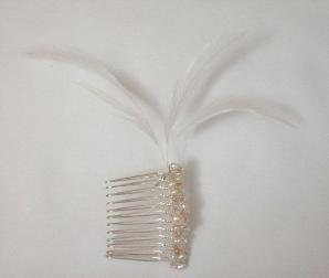 Freshwater Pearl Feather Comb